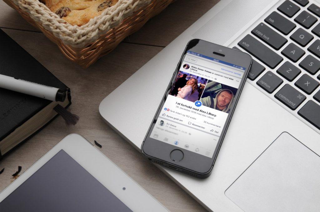 Man er ikke kærester, hvis ikke det står på Facebook!