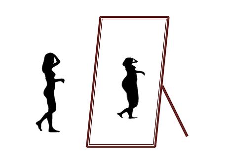 Hvem er hende den tykke i spejlet? For det kan da umuligt være mig! Eller kan det?